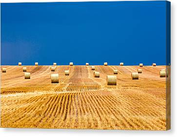 Bales On The Storm Canvas Print by Todd Klassy
