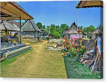 Bamboo House Canvas Print - Bali Family Compound by Kevin Oconnell