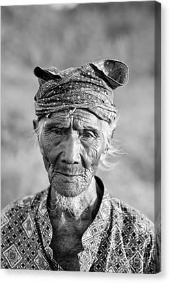 Bali Canvas Print - Bali Fisherman by Mike Reid