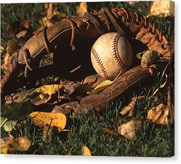 Ball And Glove Canvas Print by Jack Dagley
