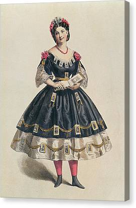 Youthful Canvas Print - Ball Gown Decorated With Photographic Cartes De Visite  by French School
