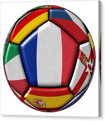 European Championship Canvas Print - Ball With Flag Of France In The Center by Michal Boubin