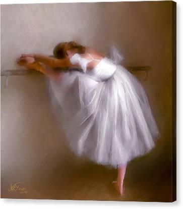 Canvas Print featuring the photograph Ballerina 1 by Juan Carlos Ferro Duque