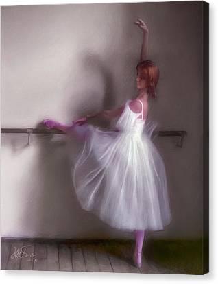 Ballerina-2 Canvas Print by Juan Carlos Ferro Duque