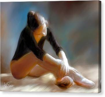 Canvas Print featuring the photograph Ballerina 3 by Juan Carlos Ferro Duque
