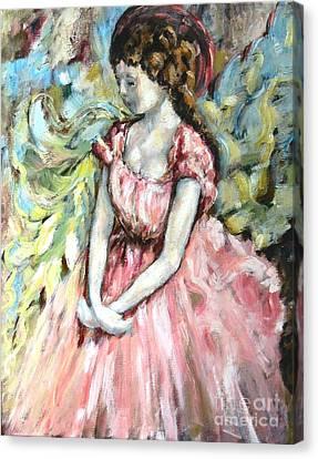 Ballerina Angel Canvas Print by Carrie Joy Byrnes