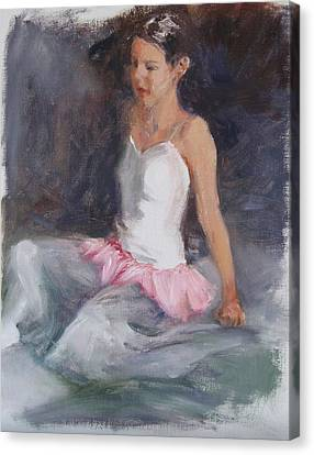 Ballerina At Rest Canvas Print by Connie Schaertl