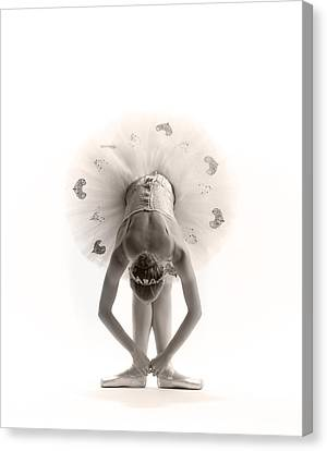 Ballerinas Canvas Print - Ballerina Bent by Steve Williams