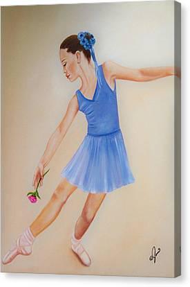 Ballerina Blue Canvas Print by Joni M McPherson