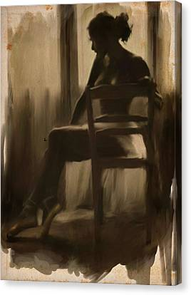 Ballerinas Canvas Print - Ballerina By The Window by H James Hoff