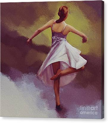 Ballerina Dance 0391 Canvas Print by Gull G