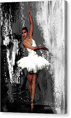 Ballet Dancers Canvas Print - Ballerina Dance 073 by Gull G
