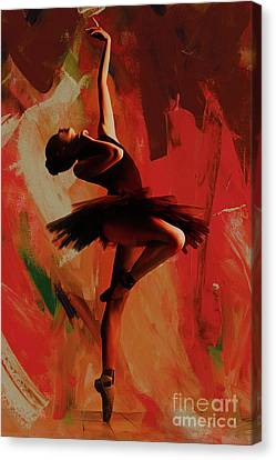 Ballet Dancers Canvas Print - Ballerina Dance 0800 by Gull G