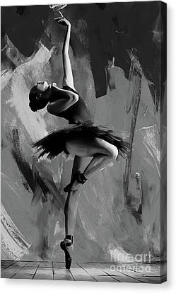 Ballet Dancers Canvas Print - Ballerina Dance 0901 by Gull G