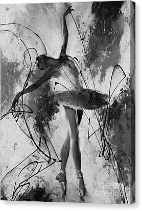 Ballerina Dance Black And White  Canvas Print by Gull G