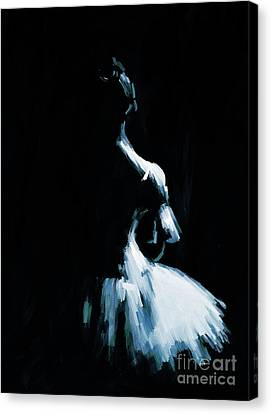 Ballet Dancers Canvas Print - Ballerina Dance Jk87 by Gull G