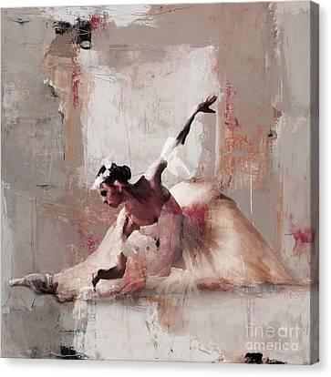 Ballerina Dance On The Floor 02 Canvas Print by Gull G