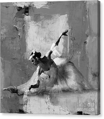 Ballet Dancers Canvas Print - Ballerina Dance On The Floor  by Gull G