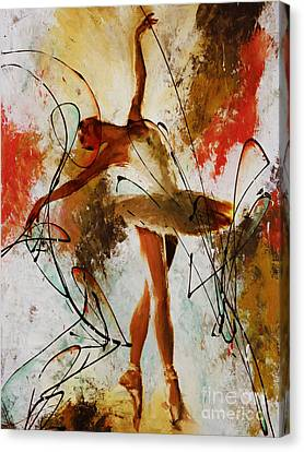 Ballet Dancers Canvas Print - Ballerina Dance Original Painting 01 by Gull G