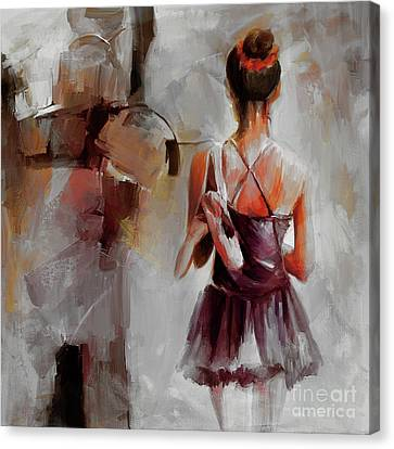 Ballet Dancers Canvas Print - Ballerina Dancer 9901 by Gull G