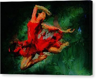Print On Canvas Print - Ballerina Girl -  Love Is Seduction  by Sir Josef - Social Critic -  Maha Art