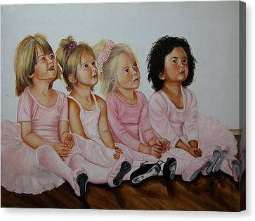 Ballerina Girls Canvas Print by Joni McPherson