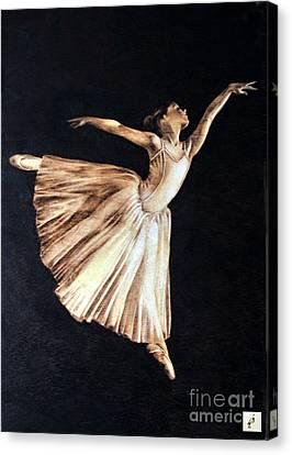 Ballerina Canvas Print by Ilaria Andreucci
