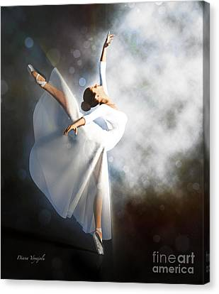 Ballerina In White Canvas Print