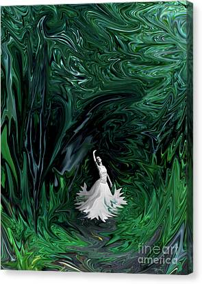 Canvas Print featuring the photograph Ballerina In Wonderland by Rebecca Margraf