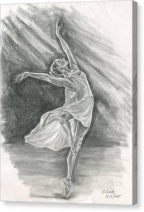 Ballerina Canvas Print by Jana Goode