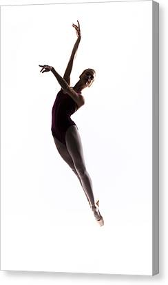 Ballerina Jump Canvas Print by Steve Williams