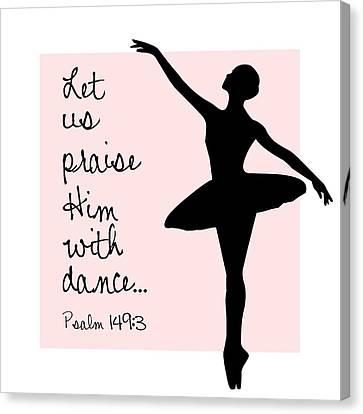 Ballerina Praise Canvas Print