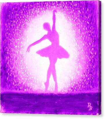 Canvas Print featuring the painting Ballerina Purple And Pink by Bob Baker