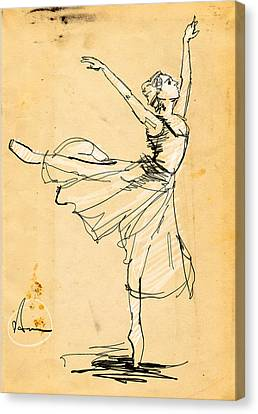 Ballerina Study Canvas Print by H James Hoff