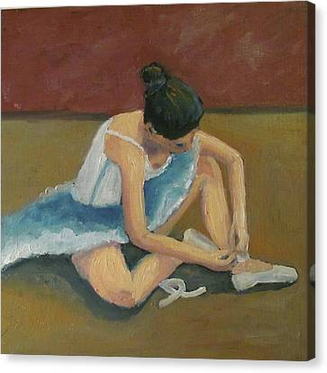 Canvas Print featuring the painting Ballerina by Susan  Spohn