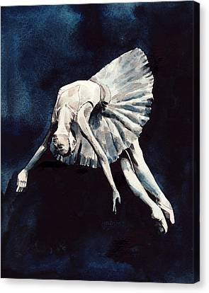 Opening Night Canvas Print - Ballerina Swan Dive by Laura Row