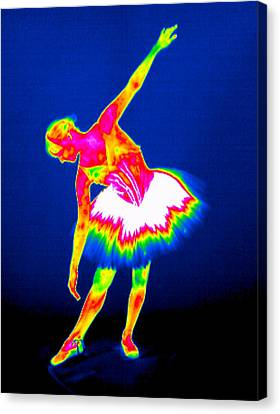 Ballerina, Thermogram Canvas Print by Tony Mcconnell
