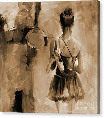 Ballet Dancers Canvas Print - Ballerina Woman 03321 by Gull G