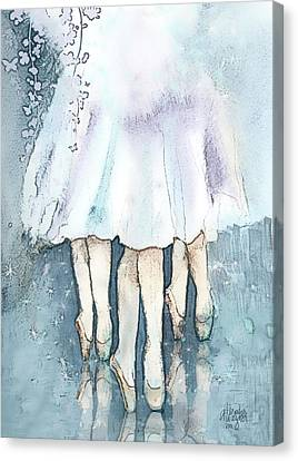 Ballet Canvas Print - Ballerinas by Arline Wagner