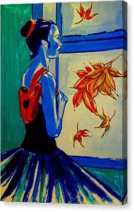 Ballerine En Automne Canvas Print by Rusty Woodward Gladdish