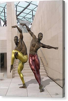 Ballet At The Caixa Forum Barcelona Canvas Print by Quim Abella