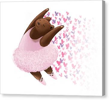 Ipad Design Canvas Print - Ballet Bear by Michael Ciccotello