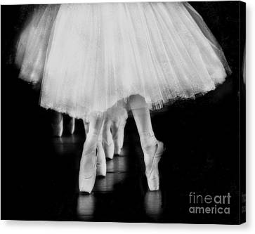 Ballet Black And White Canvas Print by Kevin Moore