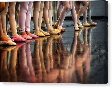 Ballet Class Canvas Print by Skitterphoto