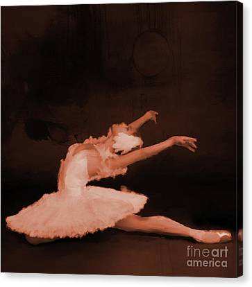 Ballet Dancer In White 01 Canvas Print