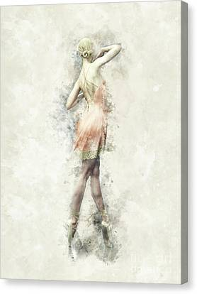Canvas Print featuring the digital art Ballet Dancer by Shanina Conway