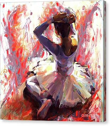 Ballet Dancers Canvas Print - Ballet Dancer Siting  by Gull G