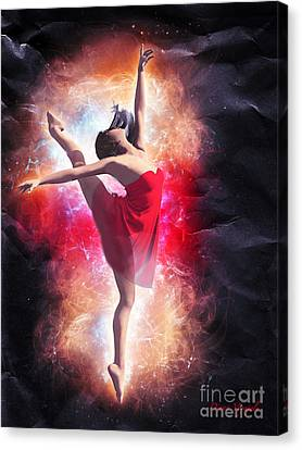 Ballet In Red Canvas Print