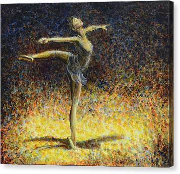 Canvas Print featuring the painting Ballet by Nik Helbig