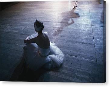 Ballet Dancers Canvas Print - Ballet Rehearsal, St. Petersburg by Sisse Brimberg